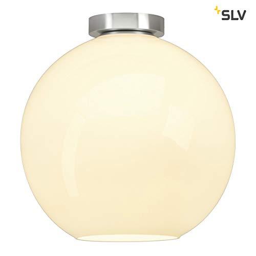 SLV Deckenleuchte Sun | Dimmbare LED Zimmerleuchte, Kugelleuchte, Decken-Lampe für Wohnzimmer, Bar, Esszimmer | Runde Innen-Lampe in exklusivem Kugel-Design (E27 Leuchtmittel, EEK A-A++, Ø19cm)