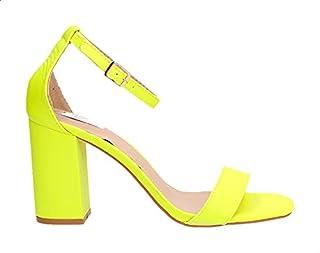 Dejavu Block-Heel Open-Toe Sandals For Women - Orange