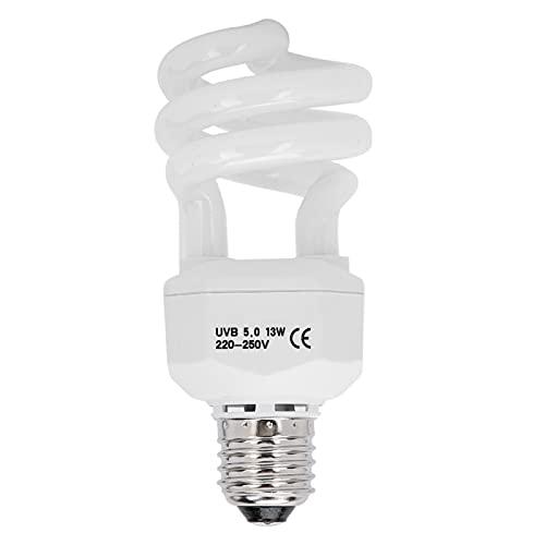 Atyhao Lámpara de Ahorro de energía, lámpara UVB para Reptiles, lámpara UVB, lámpara Solar para Tomar el Sol, Bombilla de luz de calefacción para Barba, dragón, Lagarto, Tortuga, Gecko(13W)