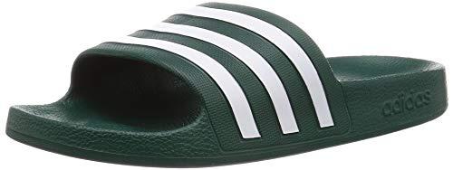 Adidas Adilette Aqua, Ciabatte Unisex-Adulto, Collegiate Green Ftwr White, 44.5 EU