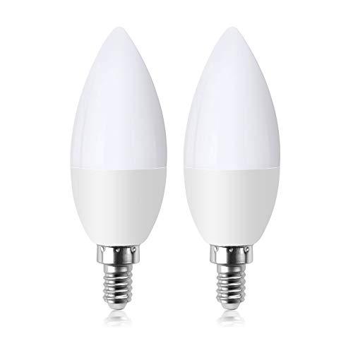 Klarlight LED Lampadina con sensore crepuscolare 5W E14 450lm Lampadina con accensione automatica per interni Giardino esterno Portico Garage Giardino Bianco freddo 6000K Confezione da 2
