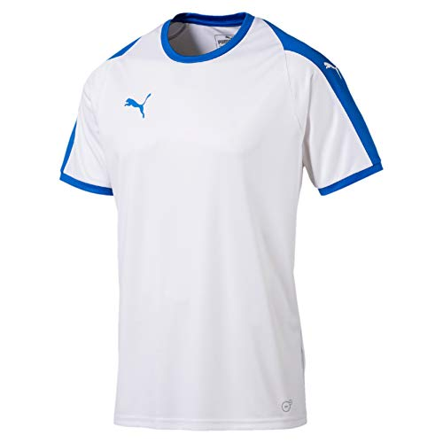 Puma Herren Liga Jersey T-Shirt, White-Electric Blue, 3XL