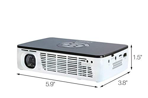 AAXA Technologies P300 Pico Projector with Rechargeable Battery - Native HD resolution with 500 LED Lumens, For Business, Home Theater, Travel and more (KP-600-01) Photo #3