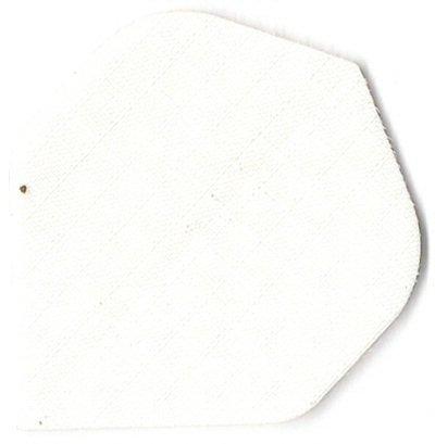 12 Nylon Stoff Longlife Dart Flights Weiss (4 Sätze) + 1 Satz british-darts Flights