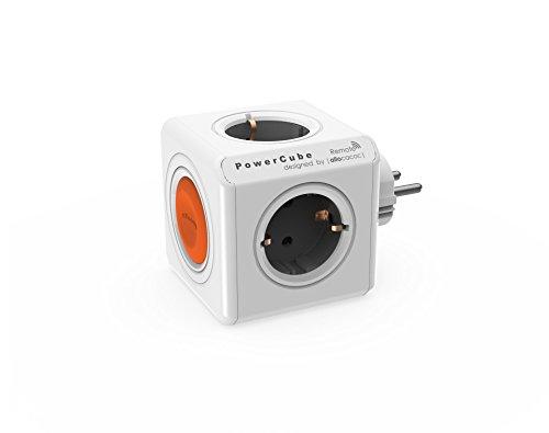 Allocacoc PowerCube Remote Original sin PowerRemote, regleta de Viaje con 4 Salidas con Interruptor, 230V Schuko