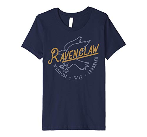 Kids Harry Potter Ravenclaw Wisdom Wit Learning Stamp Premium T-Shirt