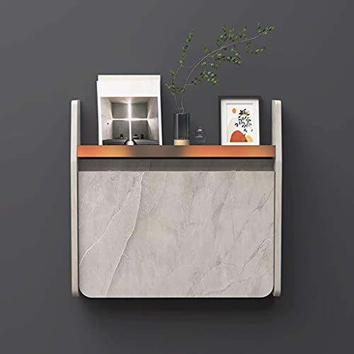 Escritorio de pared con escritorio plegable para computadora Escritorio para computadora portátil Mesa de comedor que ahorra espacio con estantes de almacenamiento Mesa de estudio de escritura
