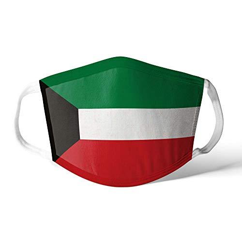 M&schutz Maske Stoffmaske Klein Asien Flagge Kuwait Wiederverwendbar Waschbar Weiches Baumwollgefühl Polyester Fabrik