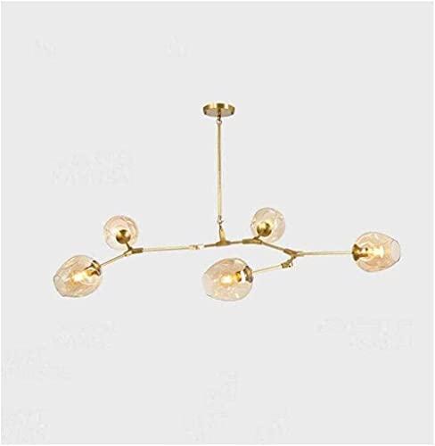 LLLKKK Lámpara colgante de techo industrial Edison con 11 luces, semiflujo, moderna, minimalista, molecular, Magic Bean, de hierro forjado, grande, color negro y dorado