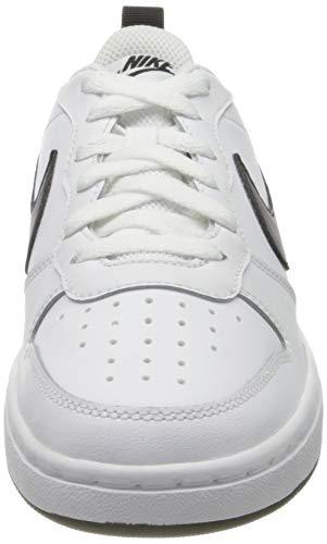 Nike Court Borough Low 2 (GS), Zapatilla de Baloncesto, Blanco/Negro, 39 EU