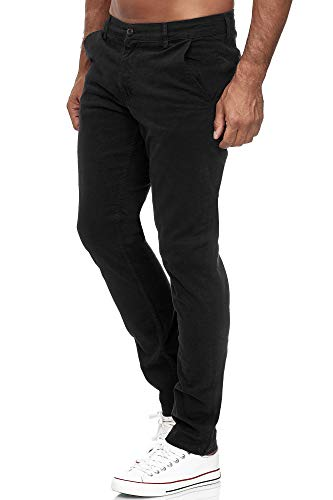 Tazzio Chino Herren Slim Fit Chinohose Designer Hose Stoffhose Herrenhose Stretch Neu 19530 Schwarz 40/30