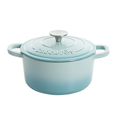Crock-Pot Artisan Round Enameled Cast Iron Dutch Oven, 7-Quart, Aqua
