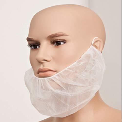 Venhoy 100pcs Einweg-Bartnetze Bartnetz Einweg-Bartabdeckung Non Slip Beard Net