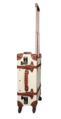Reisekoffer Vintage Trolley Hartschale Reise Retro Koffer M+L Set /4 Rollen TSA-Schloss (Koffer Gr. M)