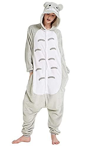 Kigurumi - Disfraz para adulto con forma de animal para carnaval, Halloween o espectáculos, fiestas de Navidad, cosplay o pijama, prenda de invierno unisex para hombre o mujer, Totoro, M