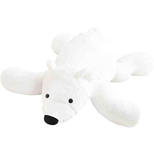 HUOQILIN Eisbär Plüschspielzeugbär Groß Dekorative Kissen Bär (Color : White, Size : 150cm)