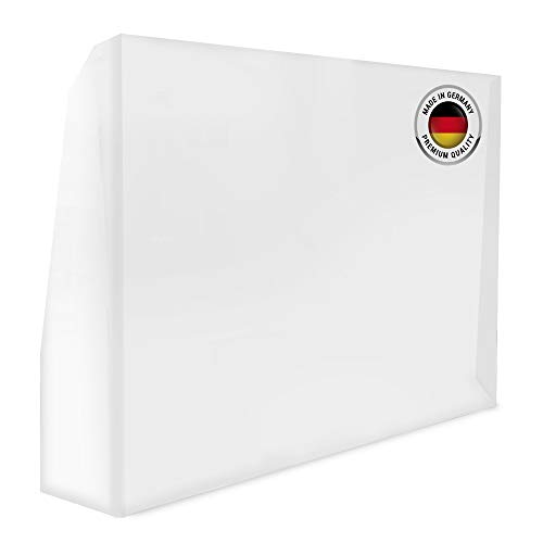 Shield Care Spuckschutz mit Durchreiche - Niesschutz Hustenschutz Virenschutz - Durchsichtiger Tresenaufsatz aus Acrylglas selbststehend und unzerbrechlich (90x62cm)