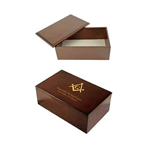 Executive Gift Shoppe   Masonic Personalized Espresso Finish Keepsake Box