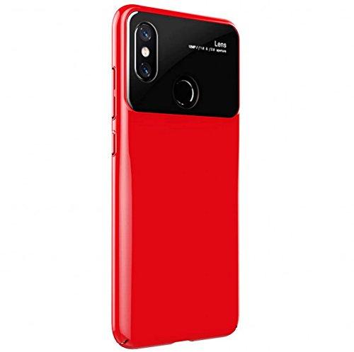 Caso Xiaomi Mi 8, Voigeer [não escorregar] [Interior TPU Suave] [PC Durable Exterior] Estojo de protecção para revestimento protetor caso protetor, caso em choque resistente camada dupla para Xiaomi Mi 8 (vermelho)