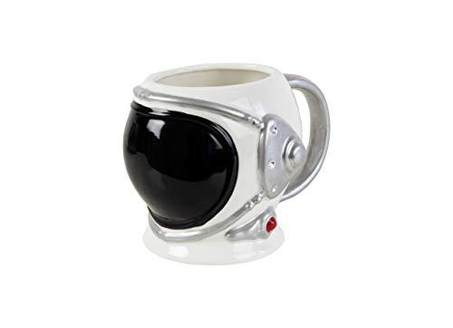 Fisura HM0902 Tazas Desayuno Originales Astronauta. para Desayuno y café. 520 ml. Porcelana. 15 * 11 * 10cm
