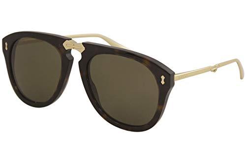 Gucci GG0305S-002-56 Gafas, Dunkel Havana/Gold, 56.0 Unisex Adulto