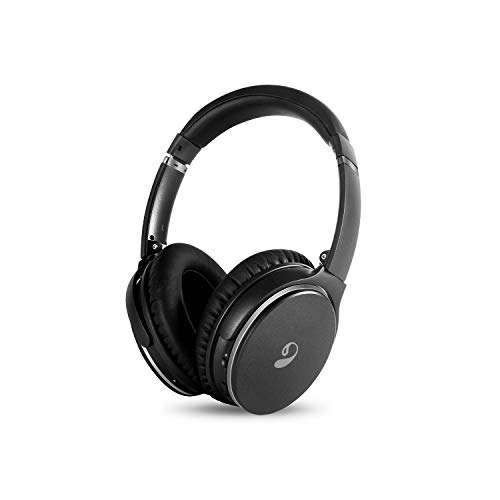 inOpera Audio A3 Bluetooth Headphones Wireless Over Ear, Active Noise Cancelling with Microphone Hi-Fi Deep Bass ANC 20 Hours Playtime, Comfortable Protein Earpads for Travel Work TV PC Game (Black)
