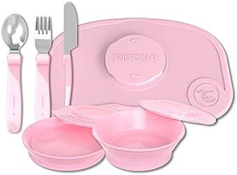 Twistshake Tableware Kit Pink Color Brand Box (Worth $65.60)