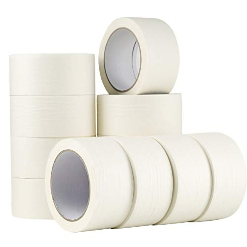 White Masking Tape,12 Pack Wide Purpose Masking Tape for Labeling,for Painting, Home, Office, School Stationery, Arts, Crafts etc. 2 Inch Wide, 32 Yard/Roll