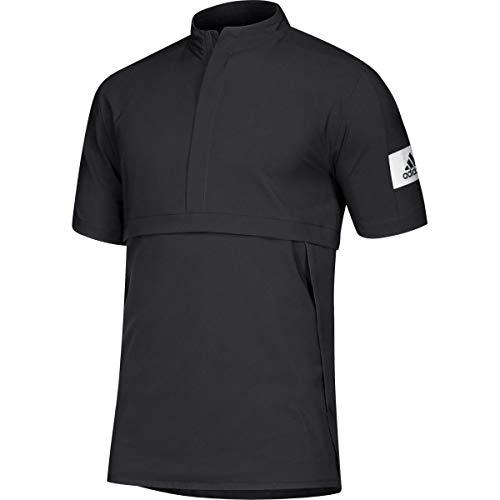 adidas Game Mode Quarter-Zip Polo - Men's Training L Black/White