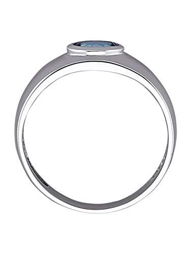 KLiNGEL Damen 600 Platin Ring in Blaumit 0.35 Karat Aquamarin in Blau und in und in