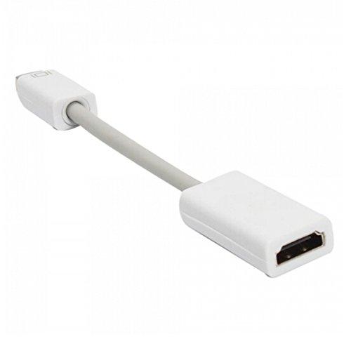 Mini DVI a HDMI cable adaptador de vídeo adaptador convertidor | Compatible con Macbook, iMac, Mac Mini, PowerBook G4 a HDTV proyector o monitor (20 cm)