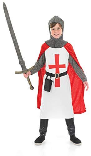Fun Shack Rotes Ritter Kostüm für Kinder, Faschingskostüm für Jungen - XL