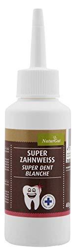 NaturGut Super Zahnweiss Pulver Zahnaufheller 40g Enthält Menthol Frischer Atem durch naturreines Pfefferminzöl Zahnweiß-Pulver Zahnpflege medizinisch
