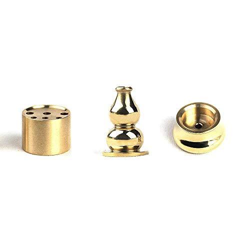 HOKPA Incense Burner, Copper Incense Burner Holder Cone Holder Gourd Incense Burner for joss Stick, Tower Incense, Incense Coil (3 Styles)