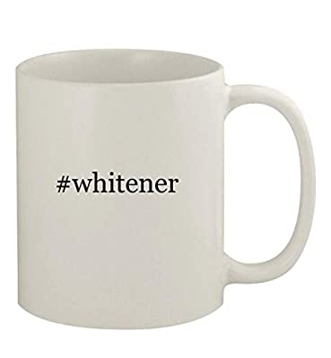 #whitener - 11oz Ceramic White Coffee Mug, White