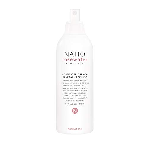 Natio Rosewater Hydration Drench Mineral Face Mist