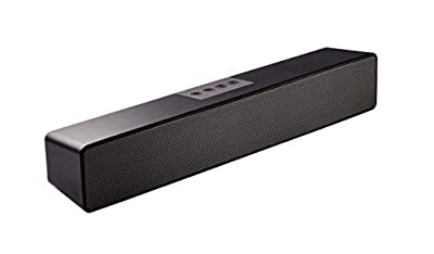 Computer Soundbar, Computer Speakers for PC,Desktop Laptop, Tablet, Smartphone, TV Stereo Speaker Bluetooth 15 Inch Wired & Wireless Built in Battery and Microphone by SAIYIN DIANZI
