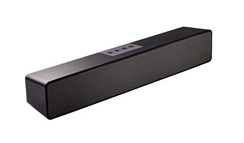 Sineaudio Soundbar-Lautsprecher, Bluetooth PC-Soundbar mit, Stereo-Audio-Soundbars für Computer, Monitore, Desktop-Laptops, Tablets, Smartphones, TV-Lautsprecher von 15 Zoll,Mikrofon