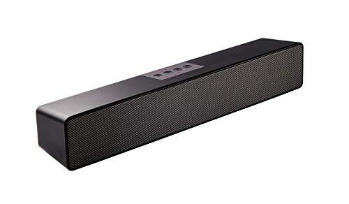 Sineaudio Soundbar-Lautsprecher, Bluetooth PC-Soundbar mit, Stereo-Audio-Soundbars für Computer, Monitore, Desktop-Laptops, Tablets, Smartphones, TV-Lautsprecher von 15-Zoll,Mikrofon