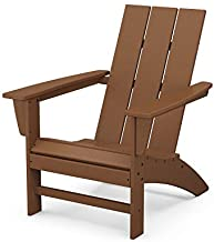 POLYWOOD AD420TE Modern Adirondack Chair, Teak