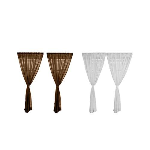 Cortina de Cocina con Ventana de 4 Paneles Transparente 200x200