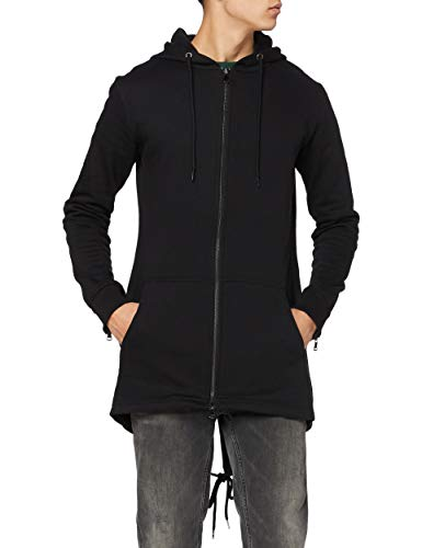 Urban Classics Herren Sweat Parka Kapuzenpullover, Schwarz (black 7), Medium