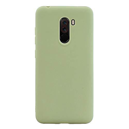 ZDCASE Xiaomi Poco F1 Funda, A Prueba de choques TPU Suave Ultra Delgado Ligero Flexible Caucho Protectora Funda para Xiaomi Pocophone F1 / Poco F1 - Verde