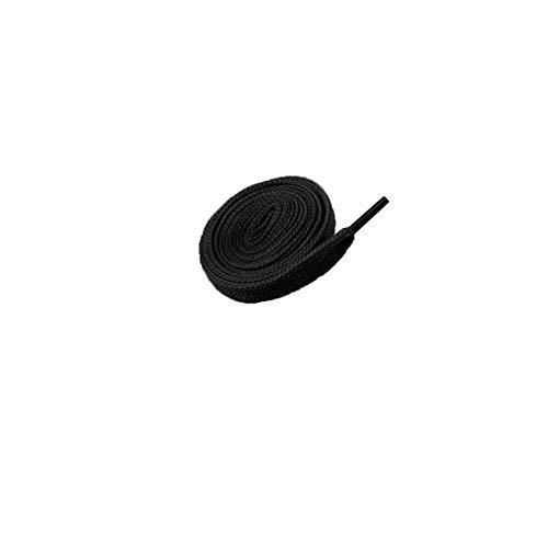 EUROXANTY® Cordones planos | Cordones para Zapatillas | Zapatillas originales | Zapatillas casual | 120 cm | Variedad de colores. (NEGRO)