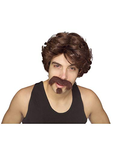 Rubie's Men's Big John Wig, Moustache, and Goatee, Multicolor, One Size