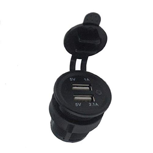 LF_FFa 1pc LED DC 12-24V Dual USB Cargador con Adaptador de alimentación Puerto del zócalo de energía for el Coche Auto del Motor del vehículo automóvil (Color : Rojo)