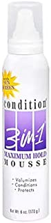 Condition 3-N-1 Mousse 6 Ounce Maximum With Sunscreen (177ml) (6 Pack)