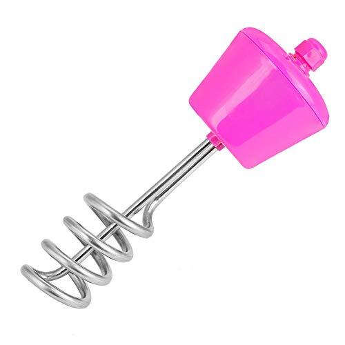 Hakeeta Elektrisches Tauchheizelement, 220 V, 2500 W Hochleistung, Leckageverhütung, aufgehängt, schwimmend, für Badewannen-Eimer oder Becken und aufblasbares Mini-Schwimmbecken, Rosa(Rosa)