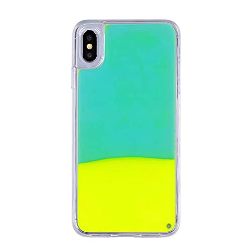 DEIOKL Funda Noctilucent Quicksand para iPhone 11 Pro 6S XS MAX 7 7Plus 8 8Plus X Funda Luminosa para teléfono Personalizada, Amarillo Brillante, para iPhone 11Pro MAX