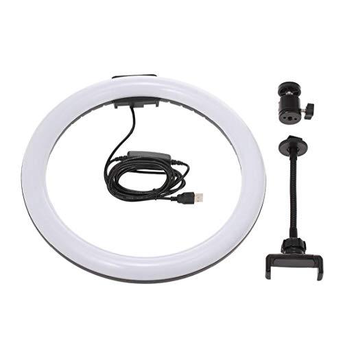"""OMMO LEBEINDR 12"""" glühend -Ringlicht Selfie 3200-5600K Dimmbare für YouTube Video Live Fotografie mit Telefon-Halter USB-Stecker"""
